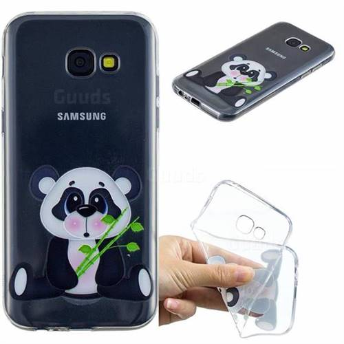 Bamboo Panda Clear Varnish Soft Phone Back Cover for Samsung Galaxy A5 2017 A520