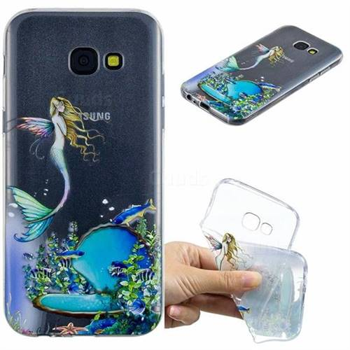 Mermaid Clear Varnish Soft Phone Back Cover for Samsung Galaxy A5 2017 A520