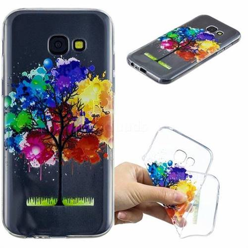 Oil Painting Tree Clear Varnish Soft Phone Back Cover for Samsung Galaxy A5 2017 A520