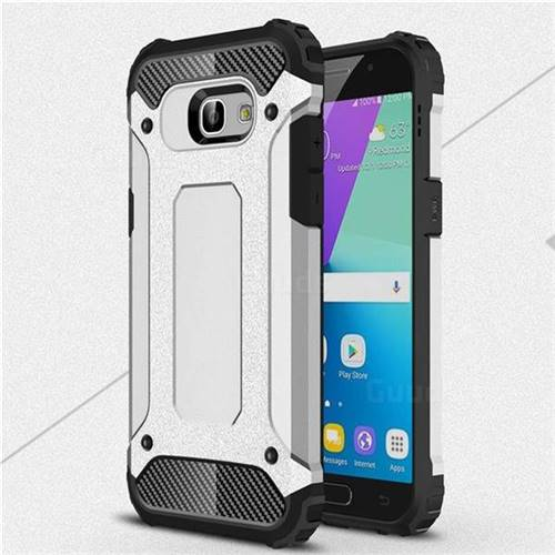 King Kong Armor Premium Shockproof Dual Layer Rugged Hard Cover for Samsung Galaxy A5 2017 A520 - Technology Silver