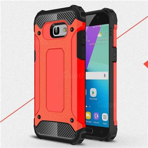 King Kong Armor Premium Shockproof Dual Layer Rugged Hard Cover for Samsung Galaxy A5 2017 A520 - Big Red