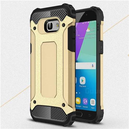 King Kong Armor Premium Shockproof Dual Layer Rugged Hard Cover for Samsung Galaxy A5 2017 A520 - Champagne Gold