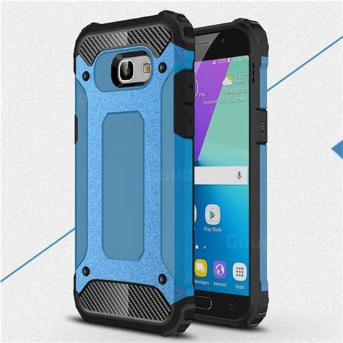 King Kong Armor Premium Shockproof Dual Layer Rugged Hard Cover for Samsung Galaxy A5 2017 A520 - Sky Blue