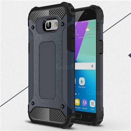 King Kong Armor Premium Shockproof Dual Layer Rugged Hard Cover for Samsung Galaxy A5 2017 A520 - Navy