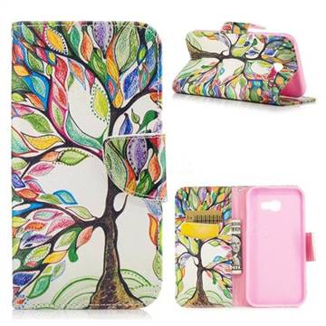 The Tree of Life Leather Wallet Case for Samsung Galaxy A5 2017 A520