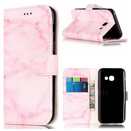 Pink Marble PU Leather Wallet Case for Samsung Galaxy A5 2017 A520