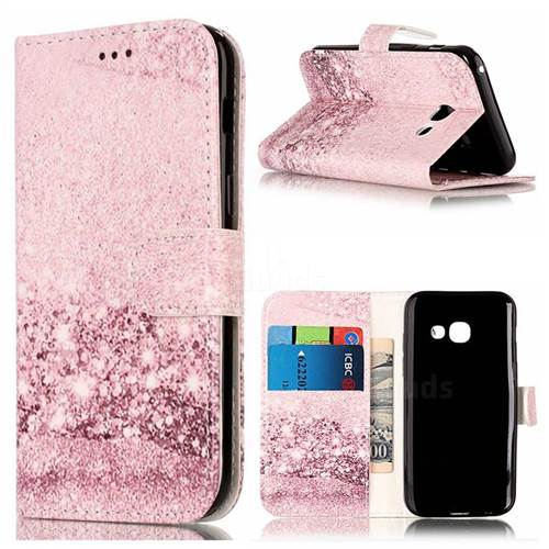 half off a1aa1 17fce Glittering Rose Gold PU Leather Wallet Case for Samsung Galaxy A5 2017 A520