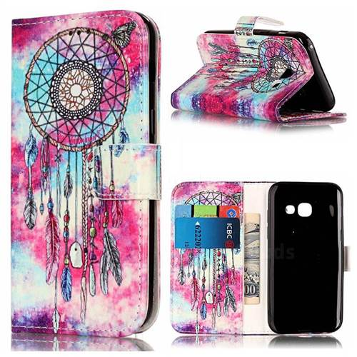 Butterfly Chimes PU Leather Wallet Case for Samsung Galaxy A5 2017 A520