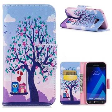 Tree and Owls Leather Wallet Case for Samsung Galaxy A5 2017 A520