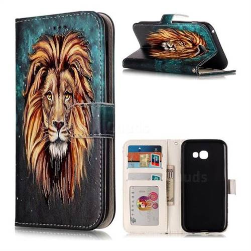 Ice Lion 3D Relief Oil PU Leather Wallet Case for Samsung Galaxy A5 2017 A520