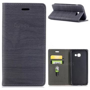 Tree Bark Pattern Automatic suction Leather Wallet Case for Samsung Galaxy A5 2017 A520 - Gray