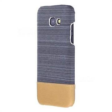 Canvas Cloth Coated Plastic Back Cover for Samsung Galaxy A5 2017 A520 - Dark Grey