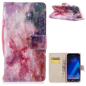 Cosmic Stars PU Leather Wallet Case for Samsung Galaxy A5 2017 A520