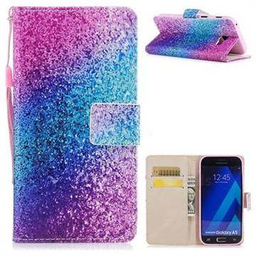 Rainbow Sand PU Leather Wallet Case for Samsung Galaxy A5 2017 A520