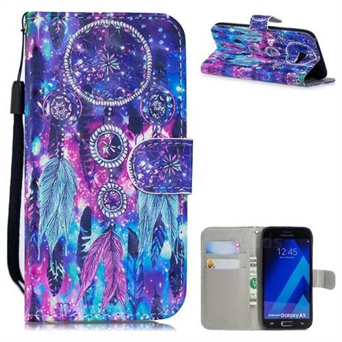 Star Wind Chimes 3D Painted Leather Wallet Phone Case for Samsung Galaxy A5 2017 A520