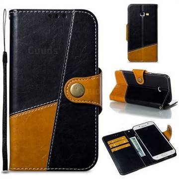 Retro Magnetic Stitching Wallet Flip Cover for Samsung Galaxy A5 2017 A520 - Black