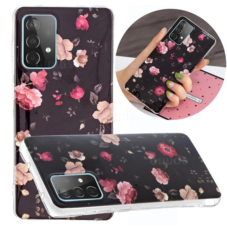Rose Flower Noctilucent Soft TPU Back Cover for Samsung Galaxy A52 5G