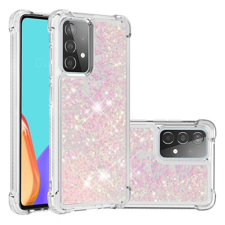 Dynamic Liquid Glitter Sand Quicksand TPU Case for Samsung Galaxy A52 (4G, 5G) - Silver Powder Star