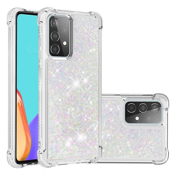 Dynamic Liquid Glitter Sand Quicksand Star TPU Case for Samsung Galaxy A52 (4G, 5G) - Pink