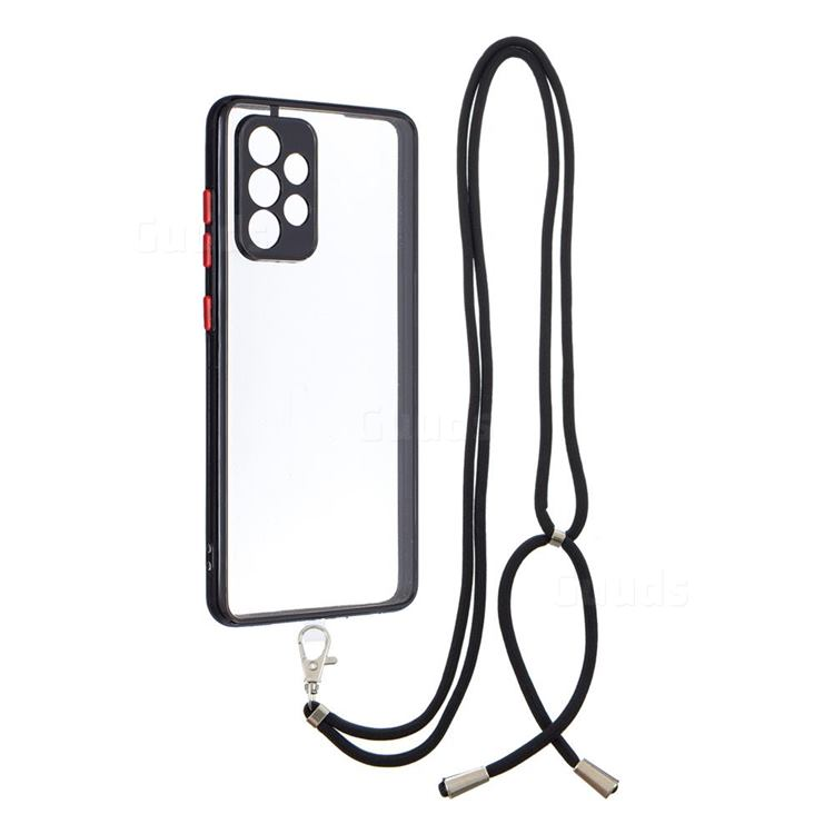 Necklace Cross-body Lanyard Strap Cord Phone Case Cover for Samsung Galaxy A52 (4G, 5G) - Black