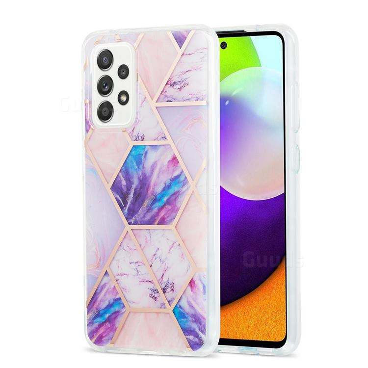 Purple Dream Marble Pattern Galvanized Electroplating Protective Case Cover for Samsung Galaxy A52 (4G, 5G)