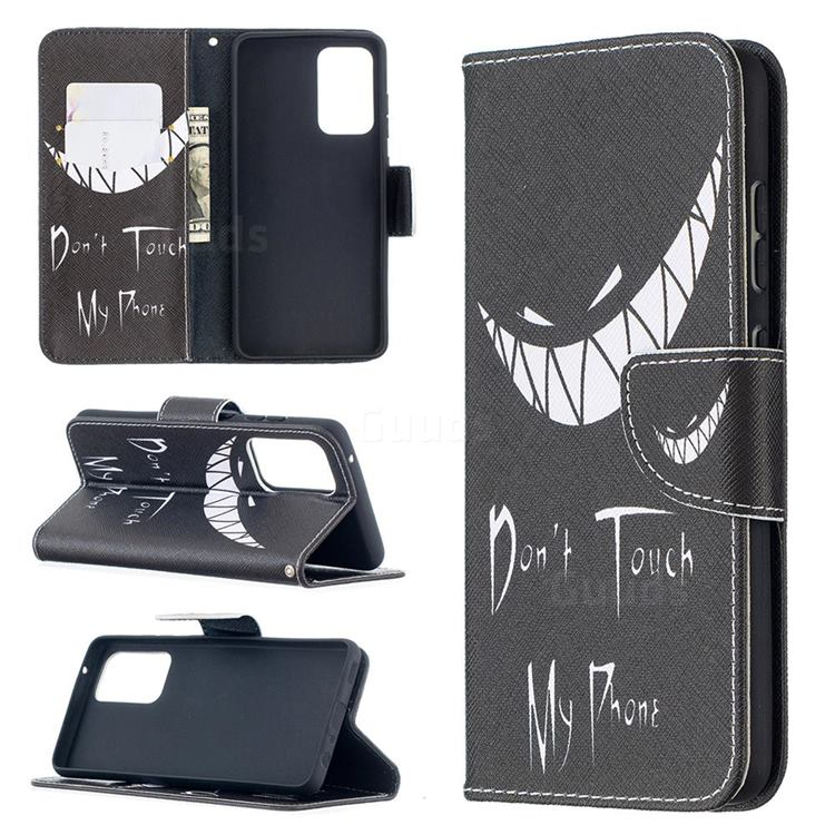 Crooked Grin Leather Wallet Case for Samsung Galaxy A52 (4G, 5G)