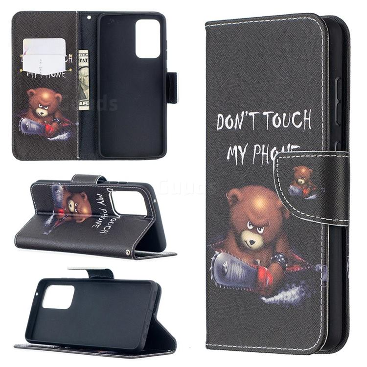Chainsaw Bear Leather Wallet Case for Samsung Galaxy A52 (4G, 5G)
