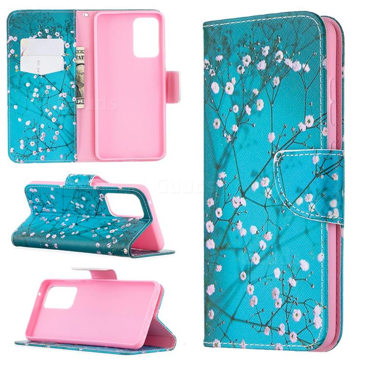 Blue Plum Leather Wallet Case for Samsung Galaxy A52 (4G, 5G)