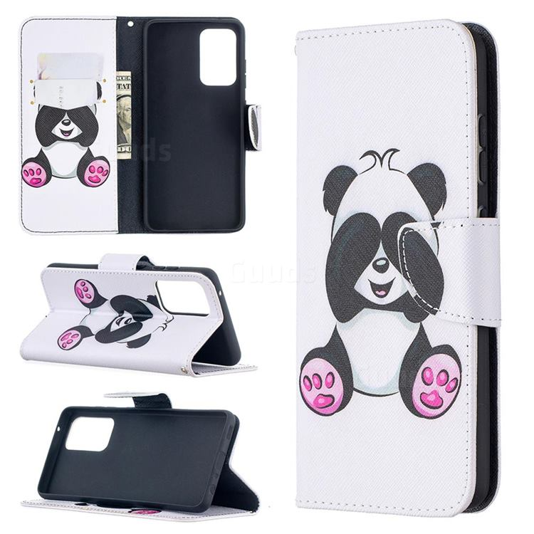 Lovely Panda Leather Wallet Case for Samsung Galaxy A52 (4G, 5G)