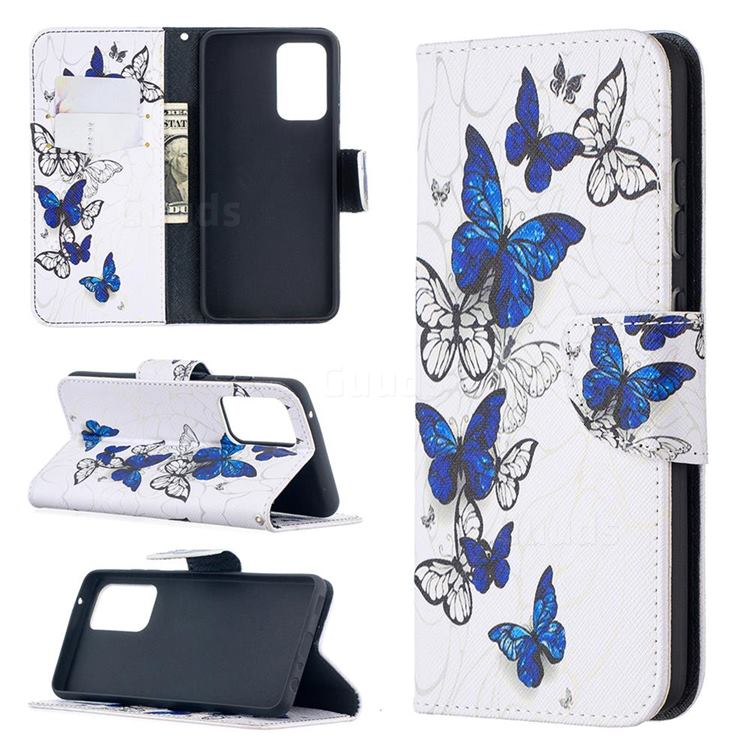 Flying Butterflies Leather Wallet Case for Samsung Galaxy A52 (4G, 5G)
