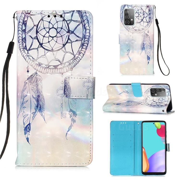 Fantasy Campanula 3D Painted Leather Wallet Case for Samsung Galaxy A52 (4G, 5G)