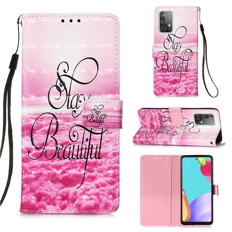 Beautiful 3D Painted Leather Wallet Case for Samsung Galaxy A52 (4G, 5G)