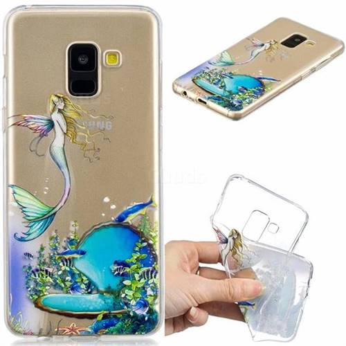Mermaid Clear Varnish Soft Phone Back Cover for Samsung Galaxy A8 2018 A530