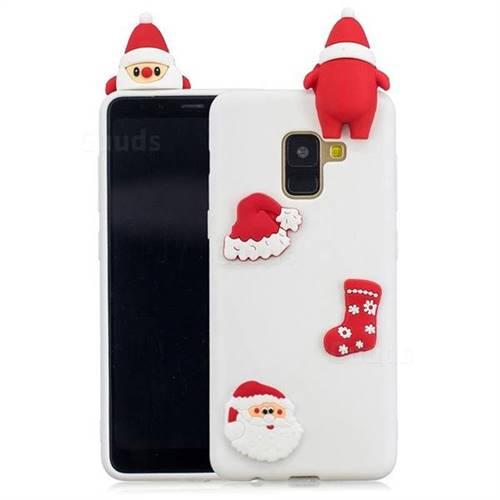 White Santa Claus Christmas Xmax Soft 3D Silicone Case for Samsung Galaxy A8 2018 A530