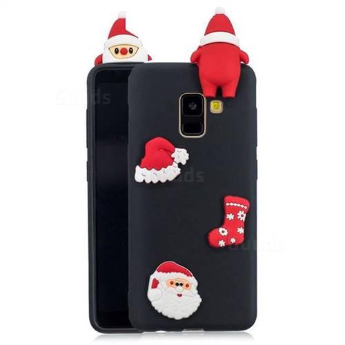 Black Santa Claus Christmas Xmax Soft 3D Silicone Case for Samsung Galaxy A8 2018 A530
