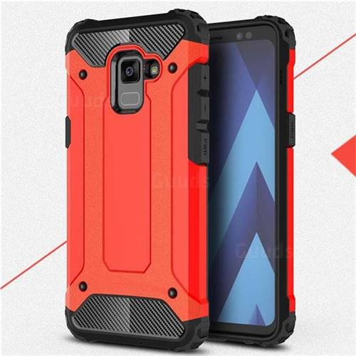 King Kong Armor Premium Shockproof Dual Layer Rugged Hard Cover for Samsung Galaxy A8 2018 A530 - Big Red