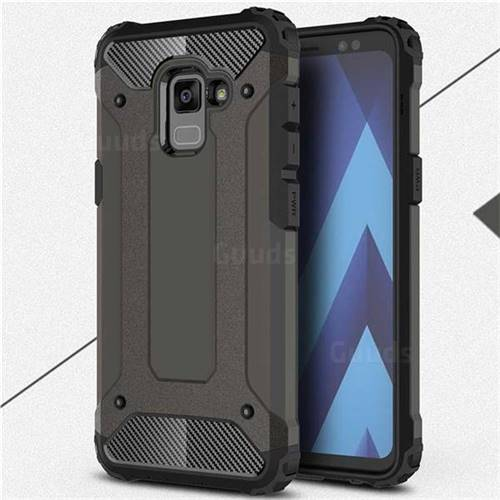 King Kong Armor Premium Shockproof Dual Layer Rugged Hard Cover for Samsung Galaxy A8 2018 A530 - Bronze