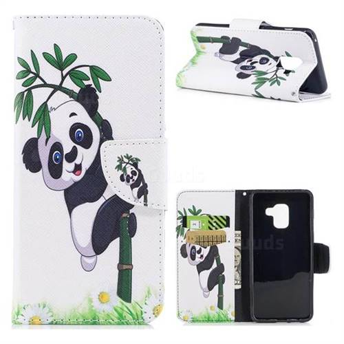 Bamboo Panda Leather Wallet Case for Samsung Galaxy A5 2018 A530