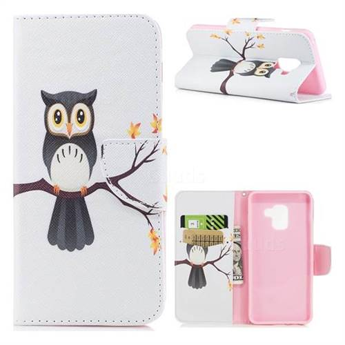 Owl on Tree Leather Wallet Case for Samsung Galaxy A5 2018 A530