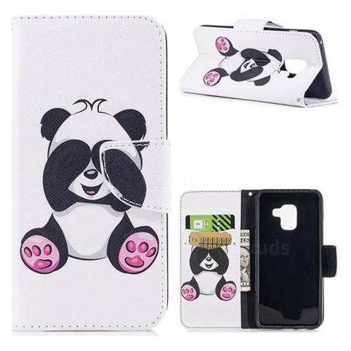 Lovely Panda Leather Wallet Case for Samsung Galaxy A5 2018 A530
