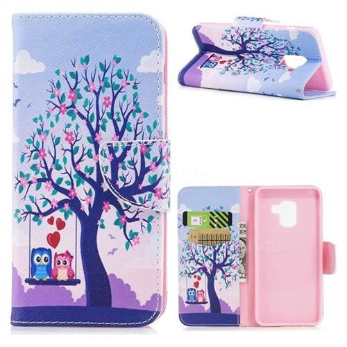 Tree and Owls Leather Wallet Case for Samsung Galaxy A5 2018 A530