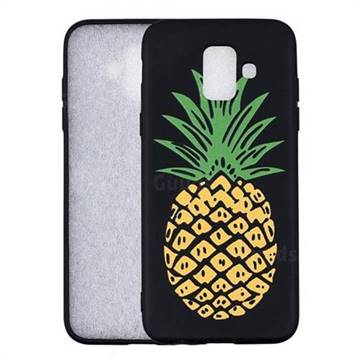 Big Pineapple 3D Embossed Relief Black Soft Back Cover for Samsung Galaxy A6 (2018)