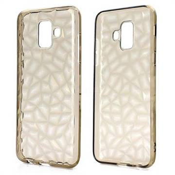Diamond Pattern Shining Soft TPU Phone Back Cover for Samsung Galaxy A6 (2018) - Gray
