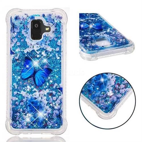 Flower Butterfly Dynamic Liquid Glitter Sand Quicksand Star TPU Case for Samsung Galaxy A6 (2018)