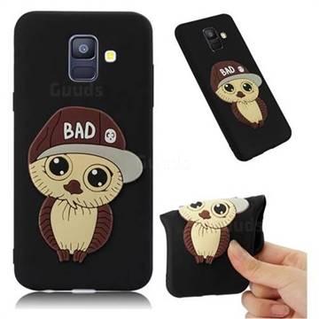 Bad Boy Owl Soft 3D Silicone Case for Samsung Galaxy A6 (2018) - Black