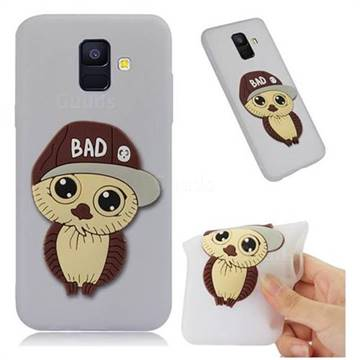 Bad Boy Owl Soft 3D Silicone Case for Samsung Galaxy A6 (2018) - Translucent White