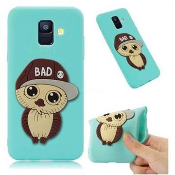 Bad Boy Owl Soft 3D Silicone Case for Samsung Galaxy A6 (2018) - Sky Blue