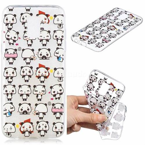 Mini Panda Clear Varnish Soft Phone Back Cover for Samsung Galaxy A6 (2018)