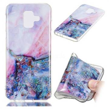 Purple Amber Soft TPU Marble Pattern Phone Case for Samsung Galaxy A6 (2018)