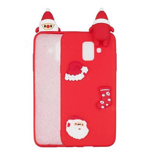 Red Santa Claus Christmas Xmax Soft 3D Silicone Case for Samsung Galaxy A6 (2018)